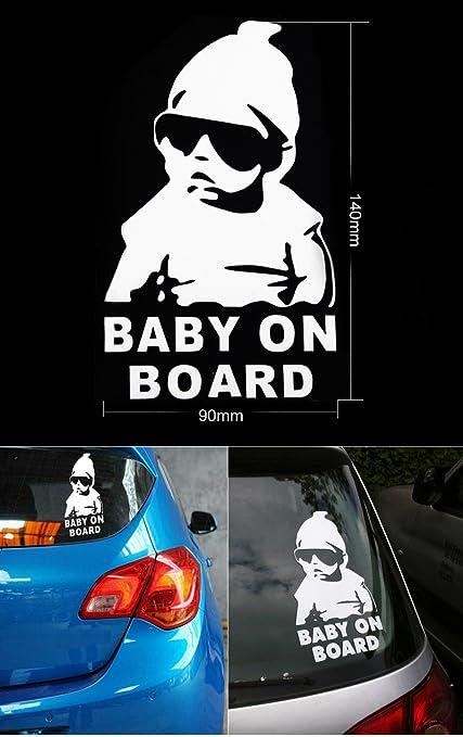 cool bebé a bordo vinilo adhesivo. ideal para carrito de bebé, camión, caravana, coche, barco, etc