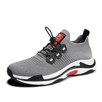 CAI Zapatillas de Punto de los Hombres 2018 Primavera/Otoño Mens Knit/Antideslizante / Shock Absorption Zapatillas para Correr Zapatos de Viaje cómodos ...