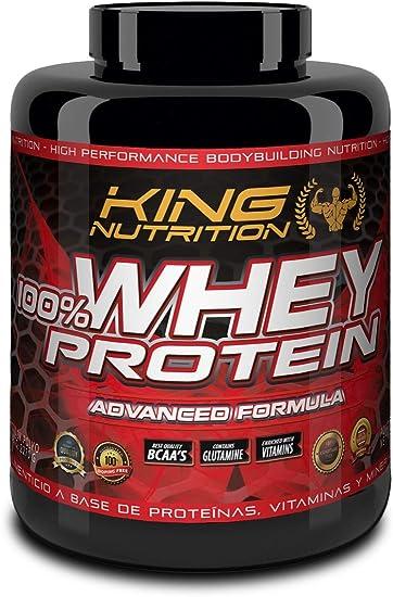 100% Whey Protein 2,27 kg King Nutrition Proteina Concetrada 80% Fresa Banana