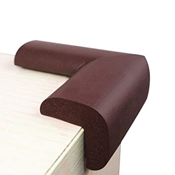 10Pcs Table Corner Protector Baby Proof Child Safety Bumper Guards Brown