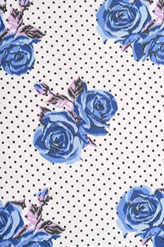 Pois Hell Floral Mini Bunny Bleue Jupe Lori Rose 7xWS7FqBXr