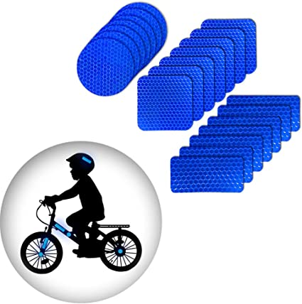 Pegatinas reflexivas Impermeable para Bicicleta Motocicleta Blanco