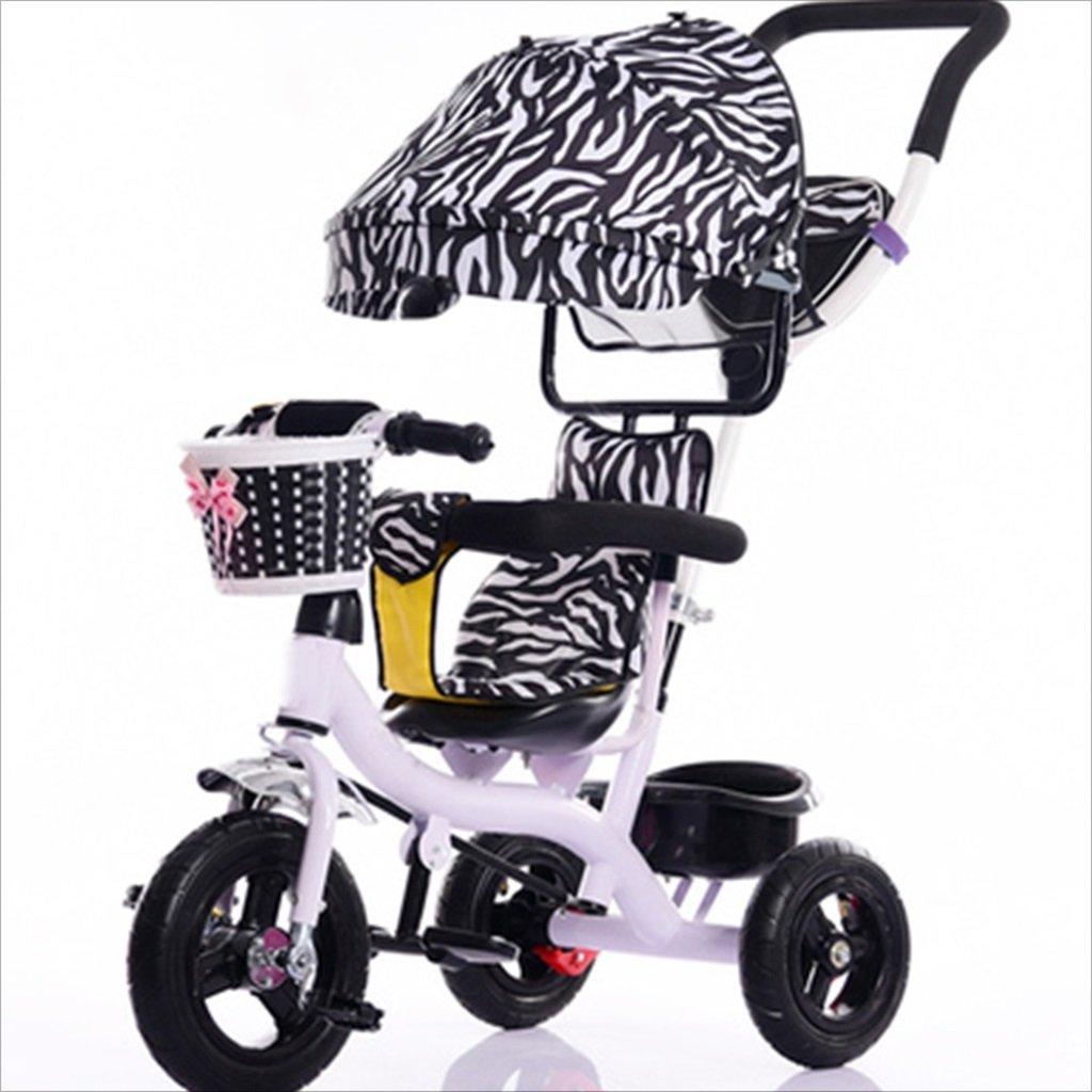 子供屋内屋外小型三輪車自転車の少年の自転車ガールズバイク7ヶ月-6歳の赤ちゃん三輪車トロリー、天幕、インフレータブルホイール/リアホイールダブルブレーキ (色 : 6) B07DVH31RF 6 6