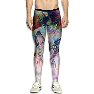 MSYGP Colorful Sphynx Cats Compression Pants Men Unique Tights Leggings Athletic Gym Tights For Men