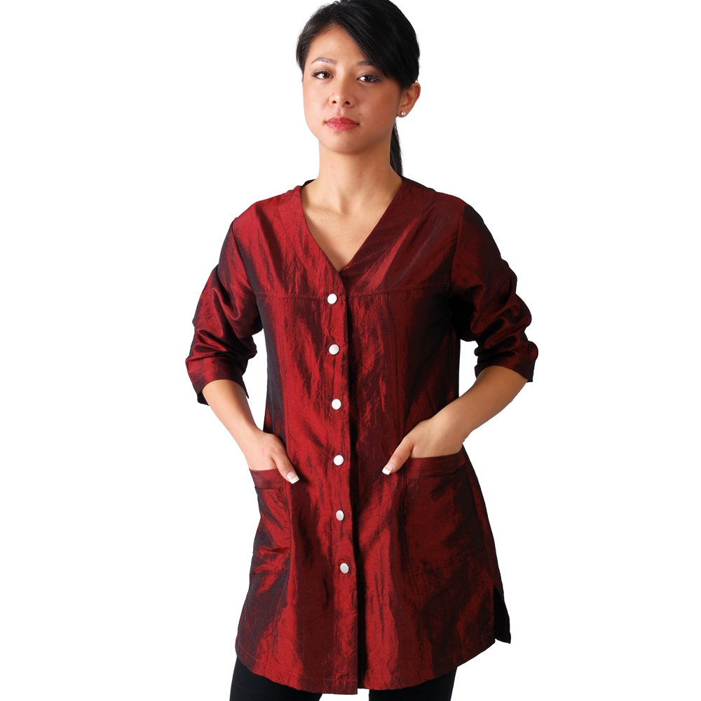JMT Beauty 3/4 Sleeve Burgundy Salon Smock (L (10)) by JMT Beauty
