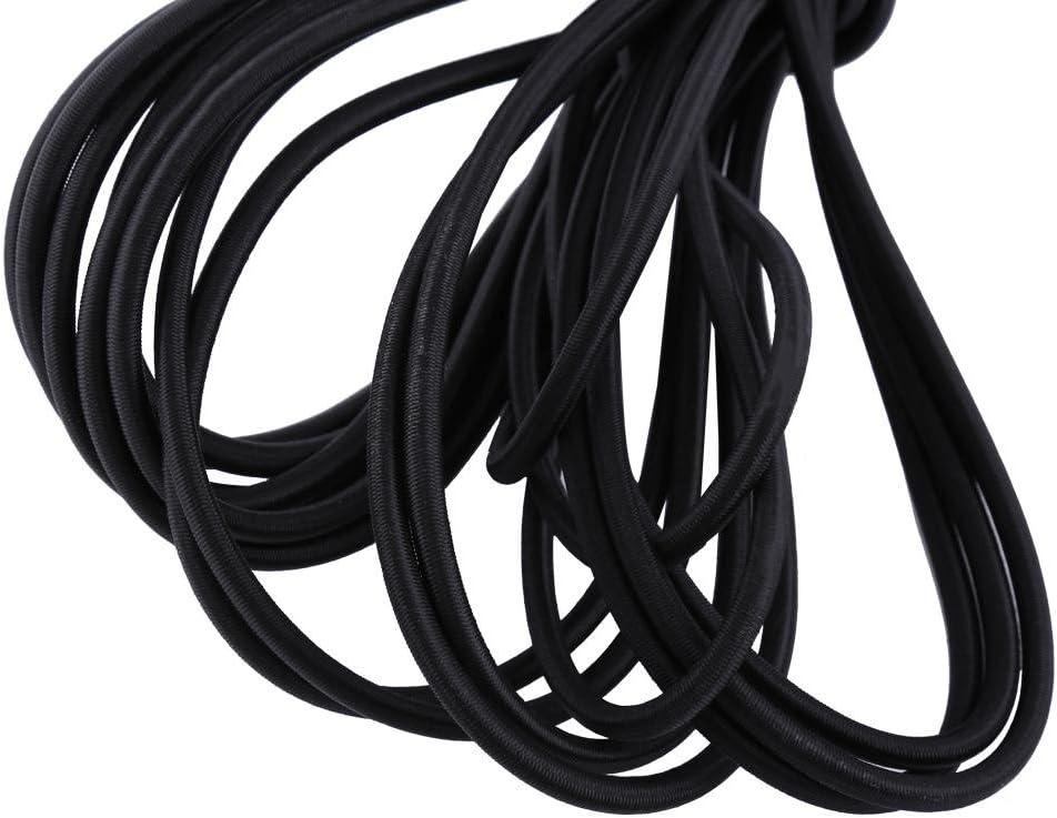 ANGGREK 10m Strong Elastic Bungee Rope Shock Cord Tie Down DIY Craft Jewelry Making Stretch String Rope Balck