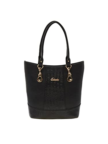 Image Unavailable. Image not available for. Colour  ESBEDA Black Solid Pu  Synthetic Material Handbag For Women d31b0ad165