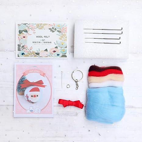 Dabixx Navidad Papá Noel Llavero DIY Paquete de Lana de ...