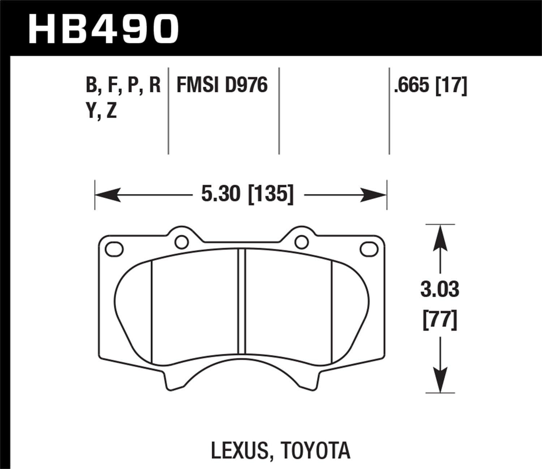 Rear Hawk Performance HB399S.630 Disc Brake Pad