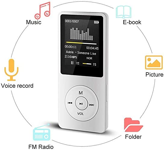 Ultra-thin Portable MP3 MP4 Player LCD Screen FM Radio Stereo Video Games Movie