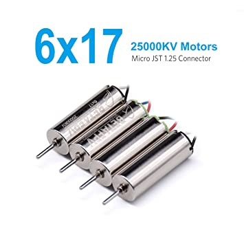 BETAFPV 6x17mm 25000KV Brushed Motors (2CW+2CCW) for Beta65 Blade Inductrix on