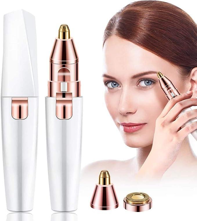 Afeitadora eléctrica para mujer, depiladora facial de cejas, cejas ...