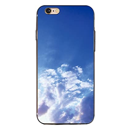 Amazon com: Shuohu Blue Sky Cloud Print Case Cover for
