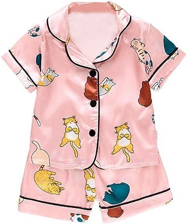 Toddler Kids Girls Boys Summer Fancy Outfits Set Nightwear Loungewear Sleepwear