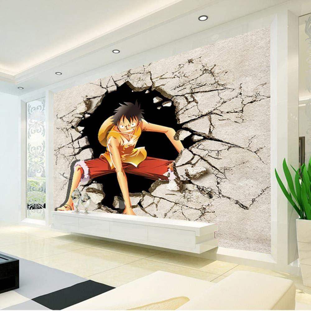 CXWLK One Piece Carta Da Parati Animata Carta Da Parati Lufei Carta Da Parati Decorativa Murale Ragazzo Camera Da Letto Design Arte 3D