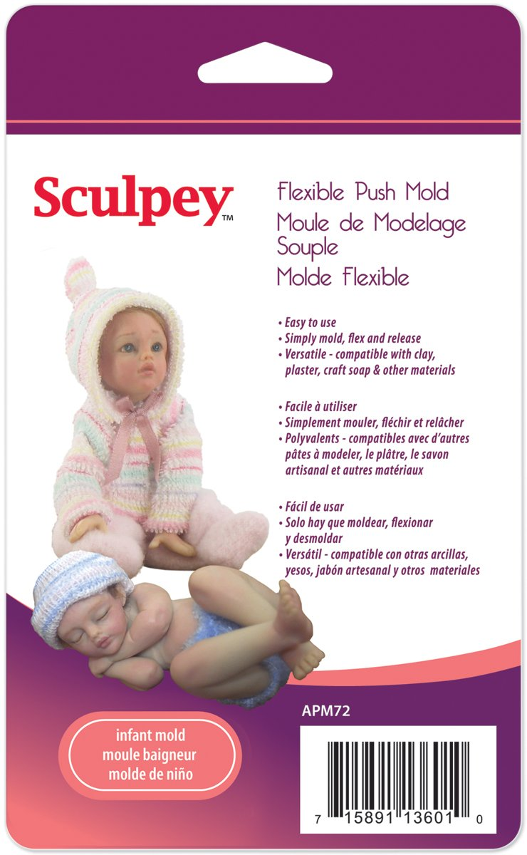 Amazon.com: Brand New Sculpey Flexible Push Mold-Infant Doll Brand New: Arts, Crafts & Sewing