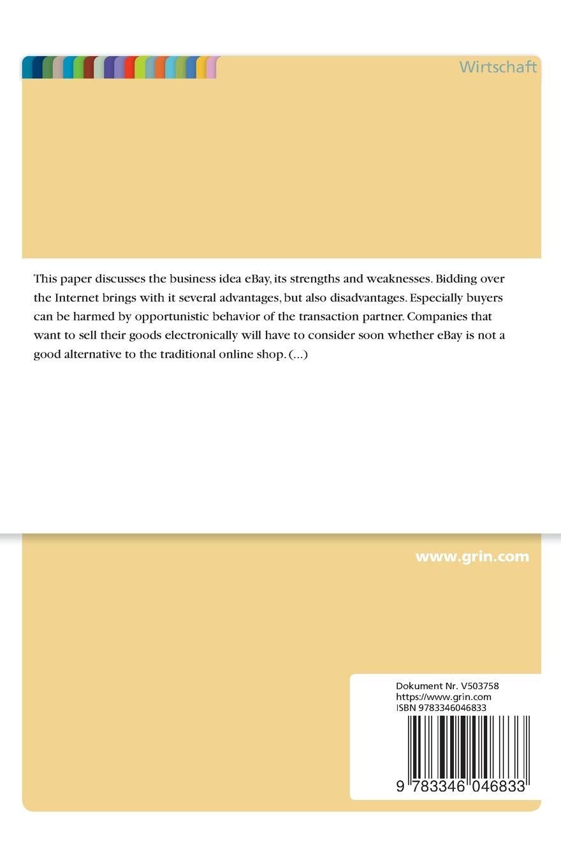 Analysis Of The Online Auction Platform Ebay Advantages And Disadvantages German Edition Liskar Adam 9783346046833 Amazon Com Books