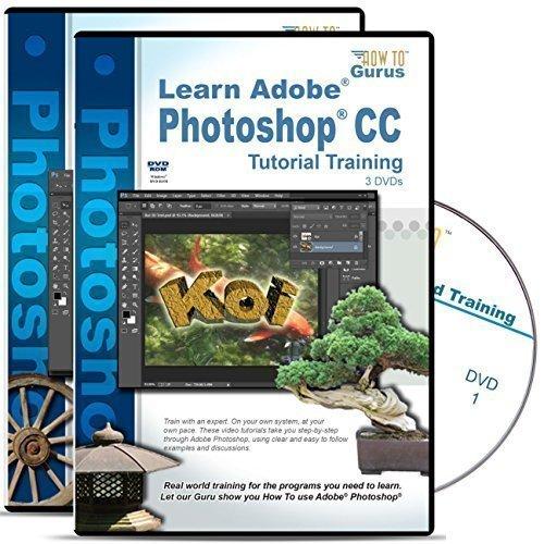 Adobe Photoshop CC Tutorial plus Adobe Photoshop CS6 Training Bundle on 6 DVDs by How To Gurus