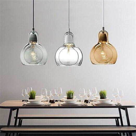 Cwill Globo moderno pendente in vetro luce per cucina grande ...