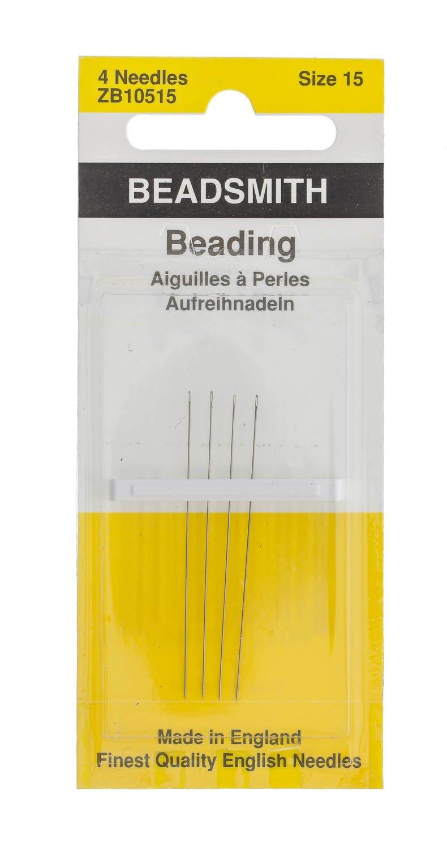 Size 15 Beading Needles Package of 4 Needles.