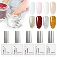 Coscelia Dip Powder Nail Starter Kit 8 Colors Dipping Powder System for French Nail Manicure Set