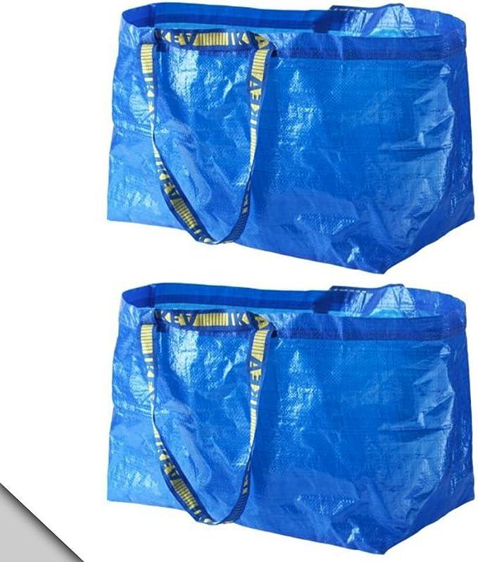 IKEA - FRAKTA Classic Blue Shopping Bag (X2): Buy Online at Best Price in UAE - Amazon.ae