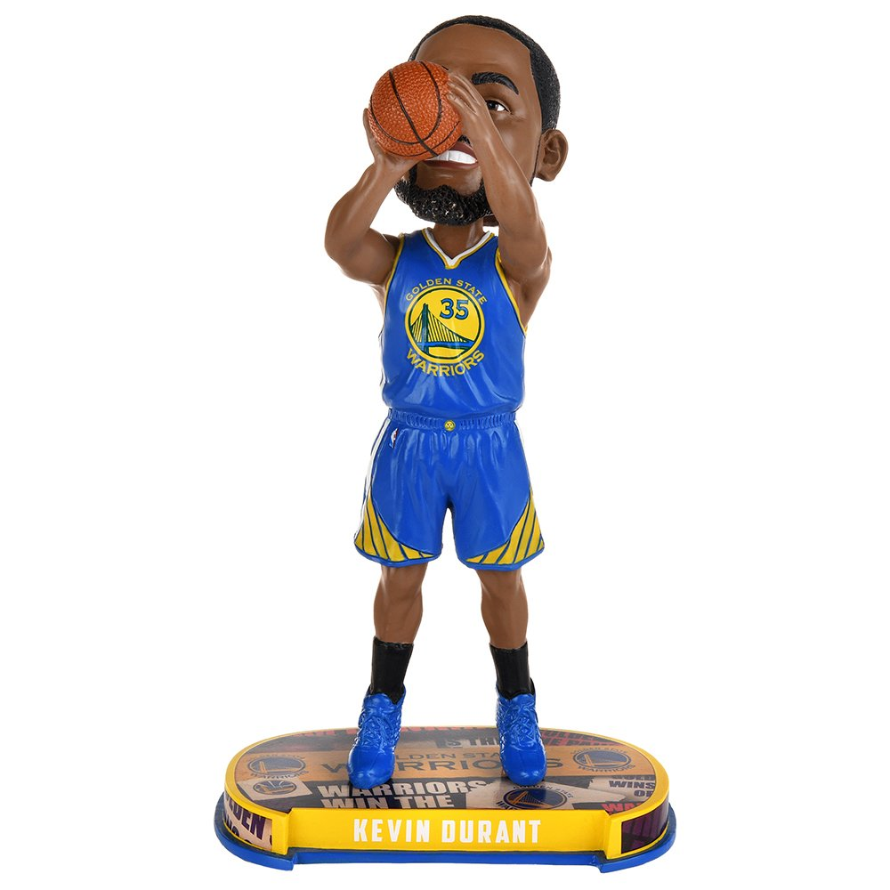 Kevin Durant (Golden State Warriors) 2017 NBA Headline Bobble Head by Forever Collectibles