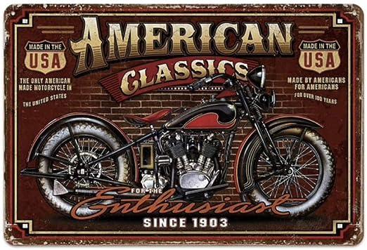KUSTOM FACTORY Placca metallica per moto vintage Harley Davidson