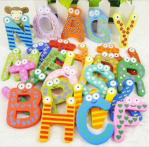 Parit 26 Letters Cartoon Alphabet Fridge Magnet kid Baby Child Educational Wooden Toy