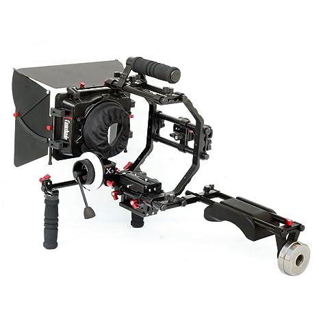 Camtree Shoulder Mount Rig Kit 201 (kit-201) con cámara jaula ...