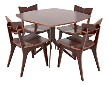 564fa416be83c Image Unavailable. Image not available for. Colour  Crosscut Furniture Tree  Six Seater Dining Table Set (Wenge Finish ...