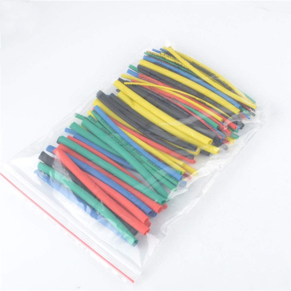 Level 100pcs 5 Couleur 100mm thermor/étractables Clear Tube Sac en Plastique polychlorure de Vinyle Tubes Shrinking