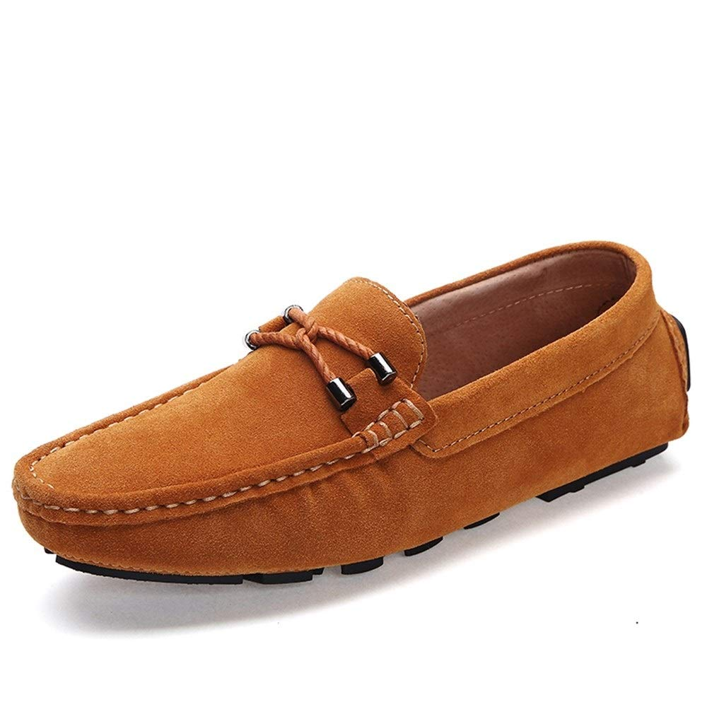 Men Driving Shoes Handmade Men Brown Suede Leather Loafer Moccasins Shoes