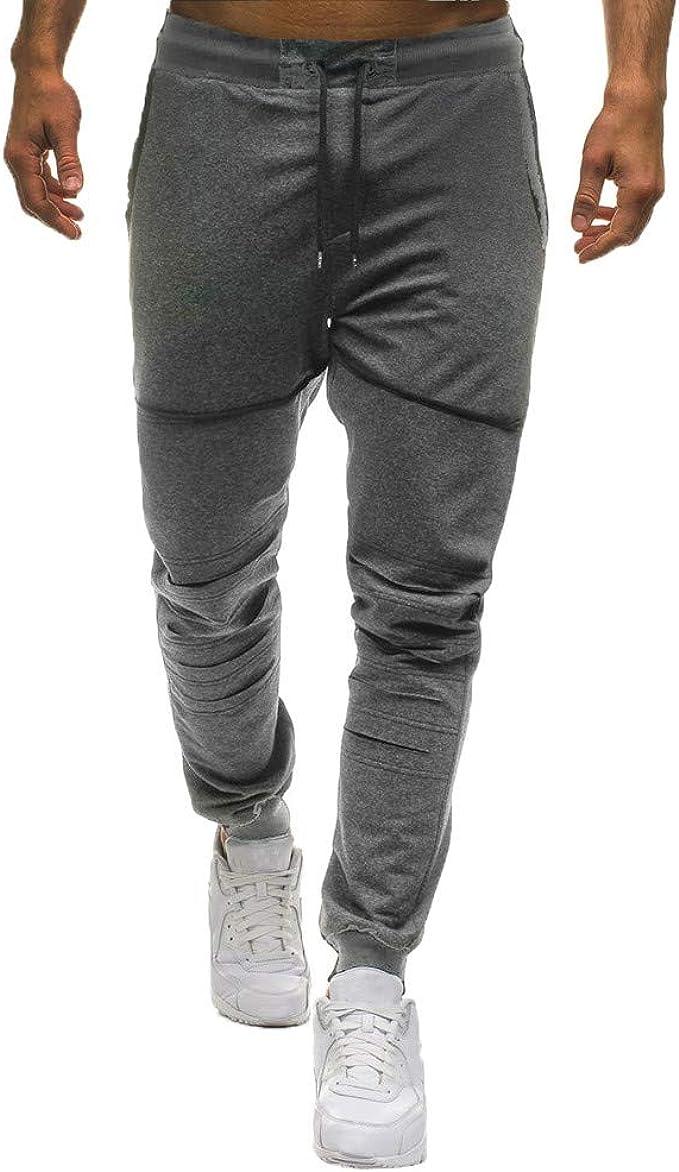 Pantalones para Hombre, Hombres Moda Casual Slim Deportivos ...