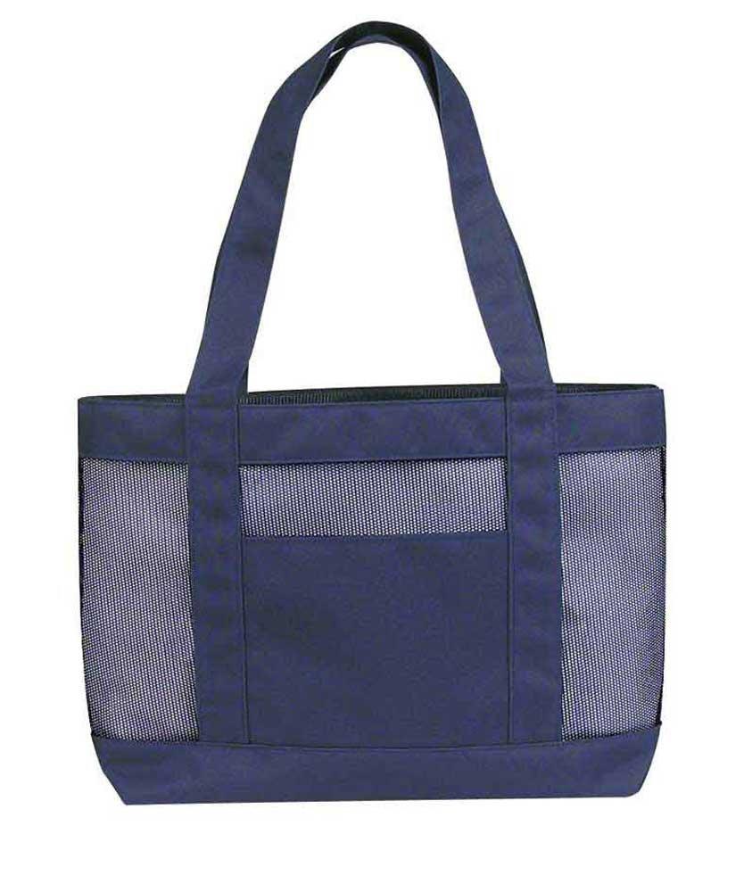 【予約】 (12, Red-White) - DALIX 43cm Mesh Shopping Tote Heavy Duty Bag with Handle in Red and White-12 PACK B00K2EEYQK ネイビーブルー  ネイビーブルー|2, ケイセンマチ 52628e02