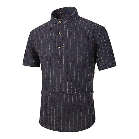 Camisa Hawaiana de los Hombres para Hombre Slim Fit Cuello Alto ...
