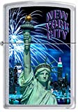 The Empire State ~ New York City Skyline & Statue of Liberty Zippo Lighter