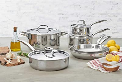 JA Henckels International 10-piece tri-ply stainless steel cookware set