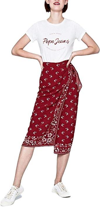 Pepe Jeans Falda Fifi Granate Mujer: Amazon.es: Ropa y accesorios