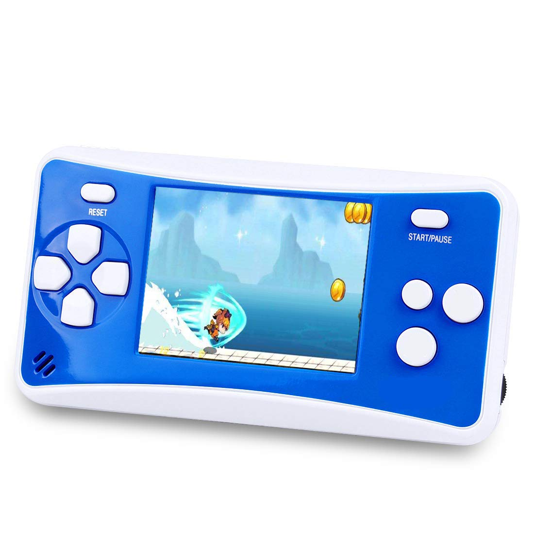 Handheld Game Console for Children,The 80's Arcade Retro Game Player with 2.5'' 8-Bit LCD Portable Video Games Can Connected TV,Built-in 152 Classic Old School Game(Blue1)