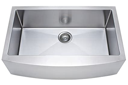 Franke Kinetic 33u0026quot; Apron Front Farm House Single Bowl Kitchen Sink, Stainless  Steel