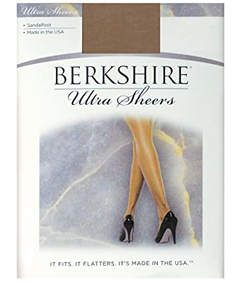 3fb642c416d8c Berkshire Women's Ultra Sheer Non-Control Top Pantyhose - Sandalfoot 4408,  City Beige,