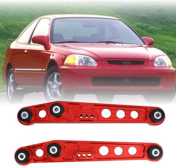 Qii lu 1 Pair of Adjustable T6061 Aluminum Front Upper Control Arm Camber Kit for Honda Civic EG EJ 1992-1995 Silver