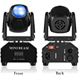 Mini Moving Head Stage Light RGBW (4 in 1) DMX512 Beam Spot LED Lighting Effect 11/13 CH for DJ Disco Club Party Dance…