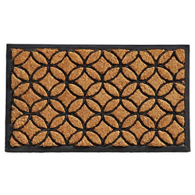 "Home & More 100172436 Circles Doormat, 24"" x 36"" x 1"", Natural/Black"