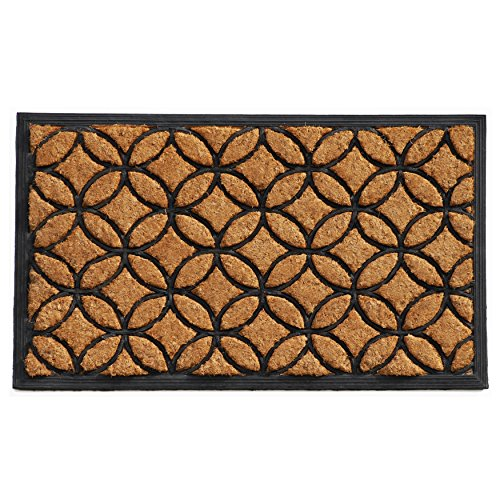 Calloway Mills 100172436 Circles Doormat, 2' x 3', Natural/Black ()