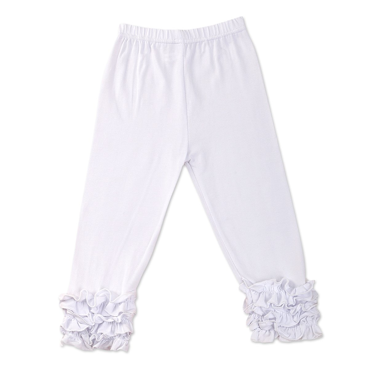 IBTOM CASTLE Baby Girls Layered Double Icing Ruffle Cotton Shorts Bottoms Boutique Summer Pants … Ivory 12 Months by IBTOM CASTLE (Image #1)