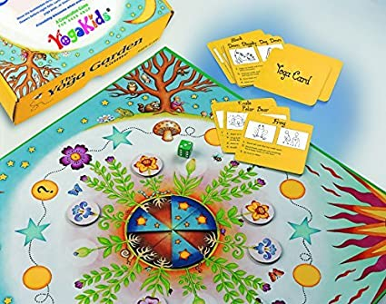 Amazon.com: The Yoga Garden Game by YogaKids: Toys & Games