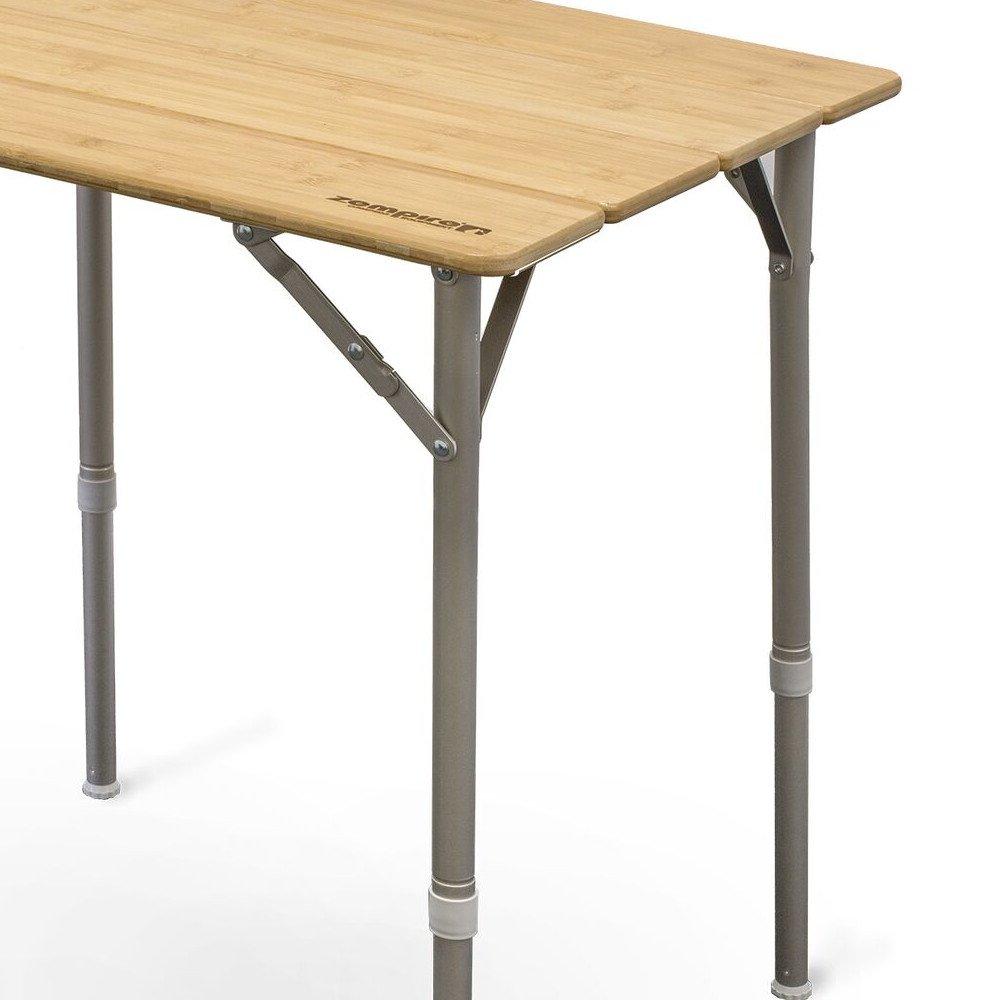Zempire Dise/ño Camping bamb/ú Tablero de Mesa Mesa Plegable Mesa Plegable Mesa abrebotellas Altura Ajustable 65/x 50/x 65//43/cm