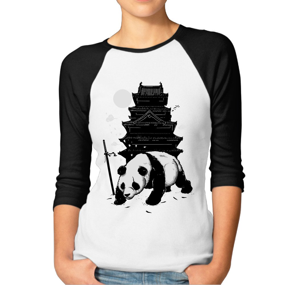 Donsir Lovely Panda Essential Raglan Tshirt Black